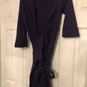 Diane von furstenberg blue-purple dress size 2